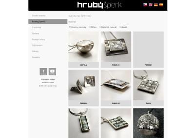 Prezentační stránky a katalog šperků