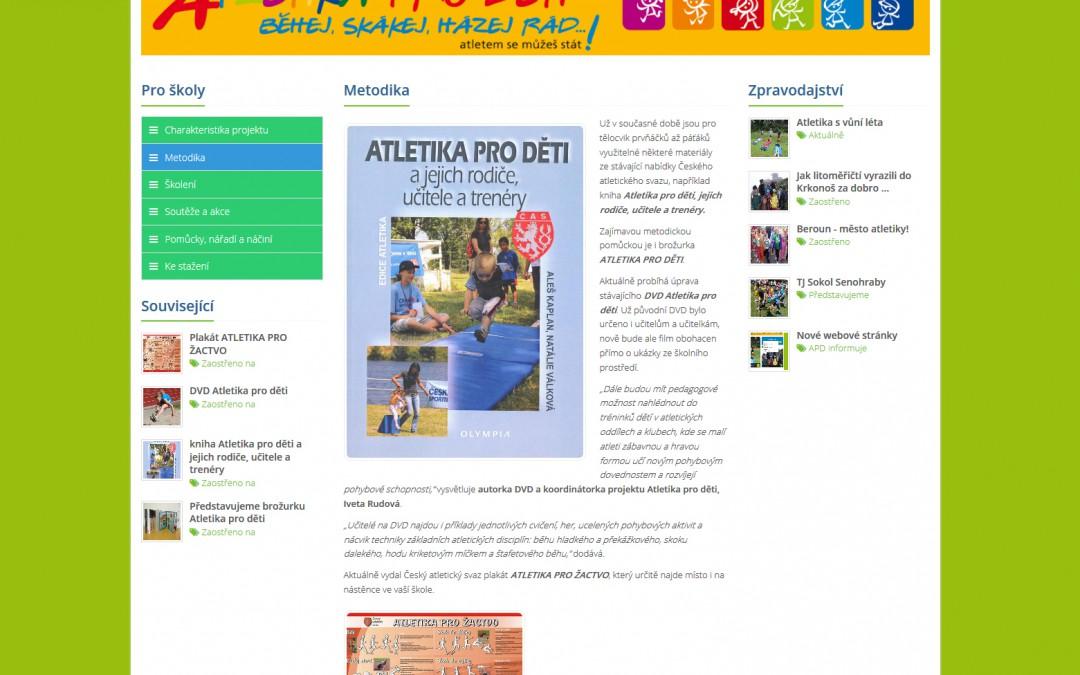 Atletika pro děti - Informační sekce