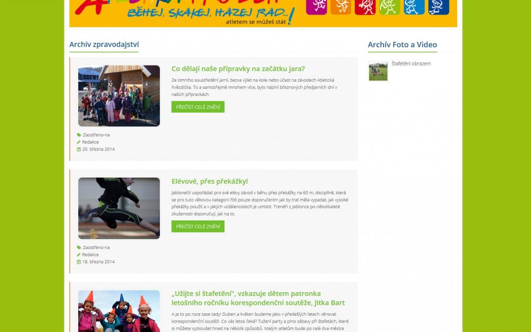 Atletika pro děti - Archív článků
