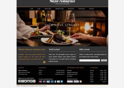 Webové stránky pro restaurace